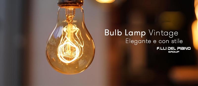 lampada a filamento di carbonio vintage