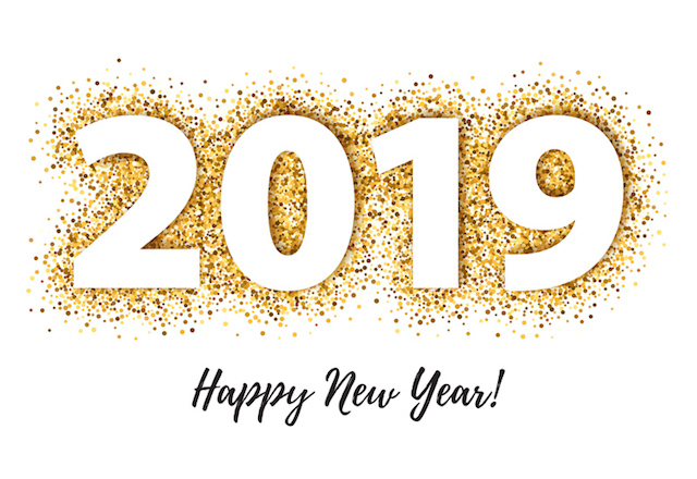 2019 Happy New Year del piano elettrico