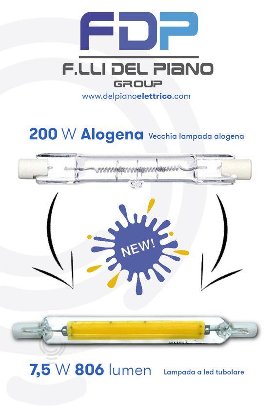 lampada alogena a led r7s