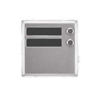 Aluminum Sinthesi panel module 2 call buttons 1148/12 URMET