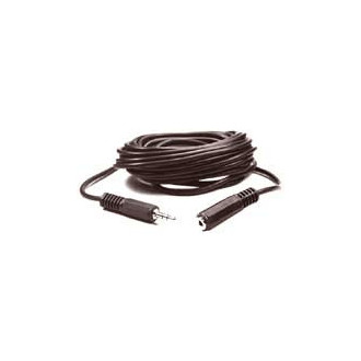 CAVO CUFFIA DA JACK 3,5PR. 3,5MM  PROLUNGA AUDIO 5mt nero