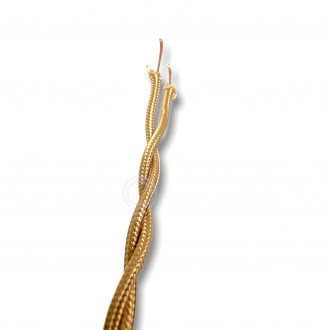 Electric cable chandeliers braid cloth fabric 2X0,75mm GOLD