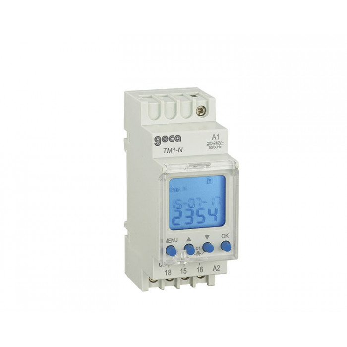 DIGITAL CLOCK SWITCH GIOR / SETT.220v DIN GECA 1channel