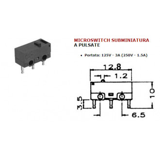 MICROSWITCH MINIATURE A BOUTON POUSSOIR