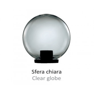 Garden lamp with transparent sphere D300 with base E27 Black
