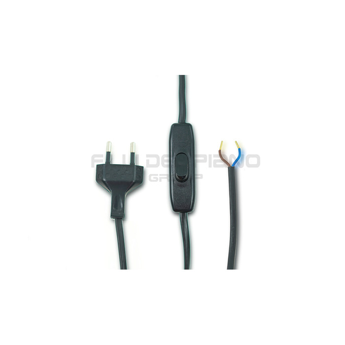 ELECTRIC WIRING PLATE CABLE LUMI CM.200 BLACK