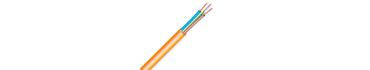 Orange Rubber Travel Cable Cable
